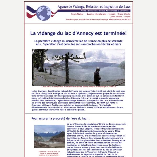 Vidange du Lac d'Annecy, printemps 2002