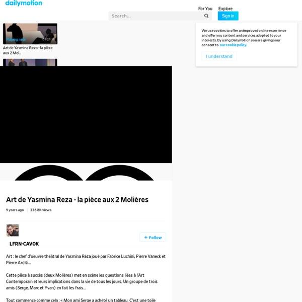 Art de Yasmina Reza - la pièce aux 2 Molières