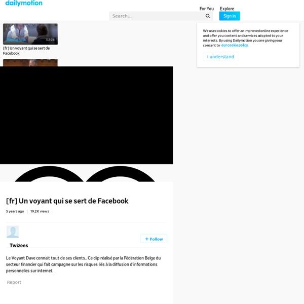 [fr] Un voyant qui se sert de Facebook