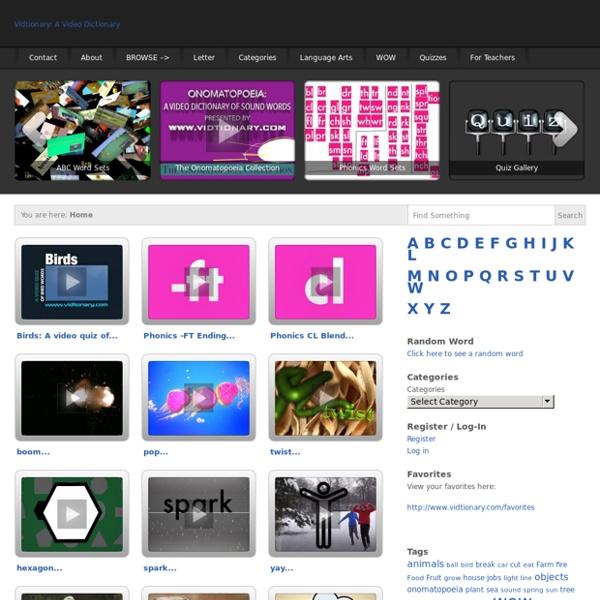 Video Dictionary: Vidtionary