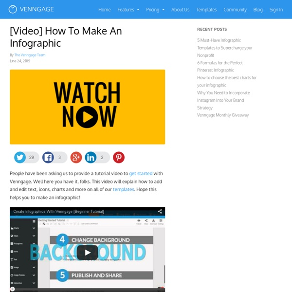 [Video] How To Make An Infographic