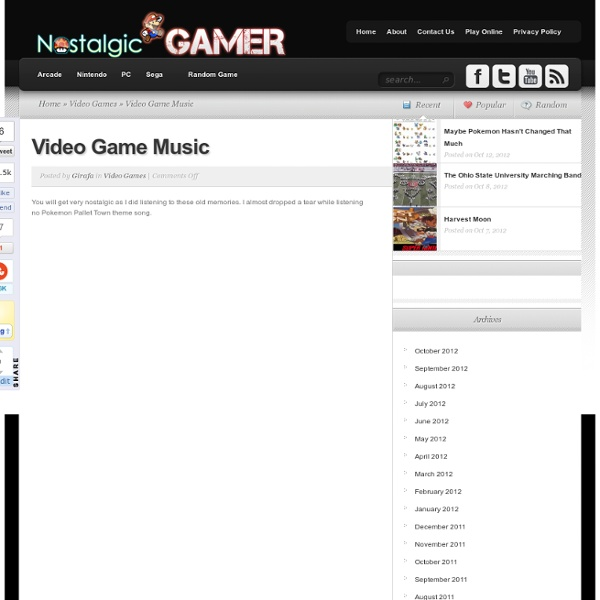 Music From Video Games