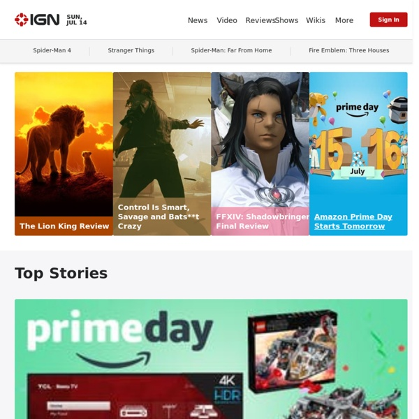 Video Games, Cheats, Walkthroughs, Game Trailers, Reviews, News, Previews & Videos at IGN