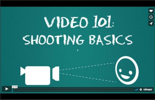 Video 101: Shooting Basics