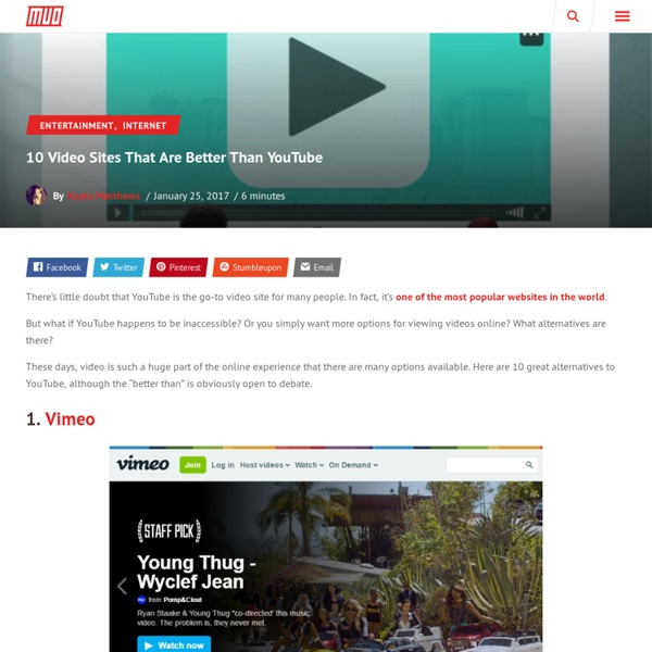 12 Video Sites That Are Better Than YouTube