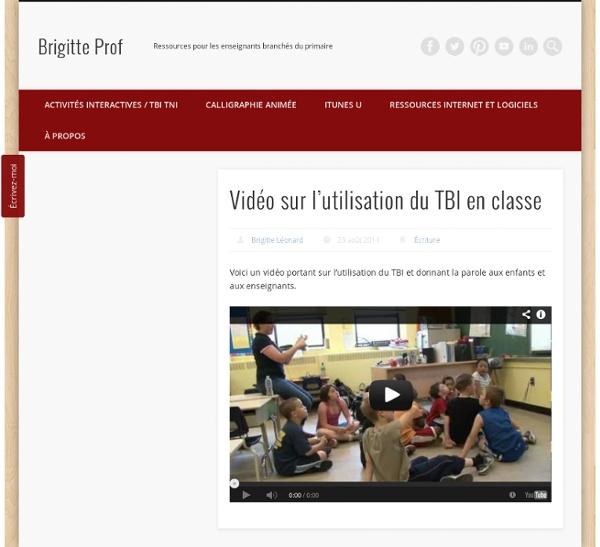 Vidéo sur l'utilisation du TBI en classe
