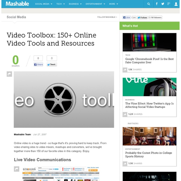 Video Toolbox 150+ Online Video Tools and Resources.url