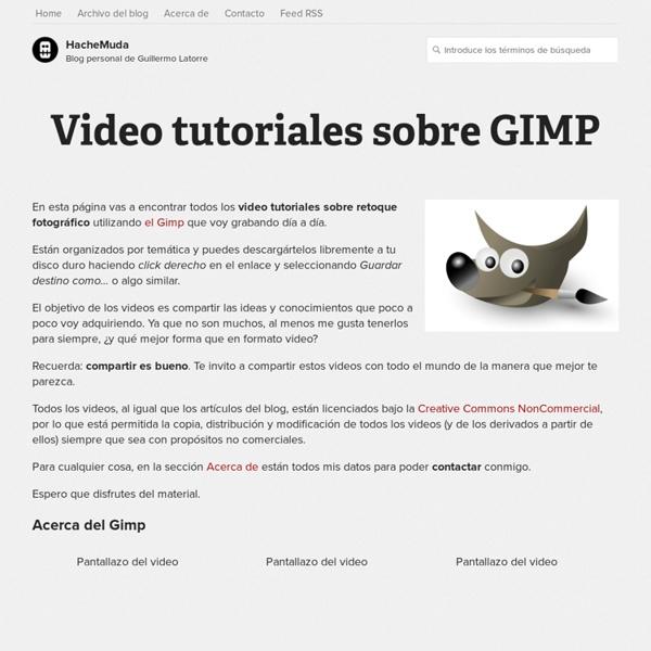 Video tutoriales sobre GIMP
