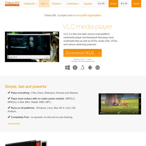 Official page for VLC media player, the Open Source video framework ...