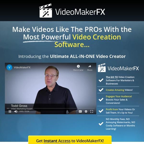 VideoMakerFX - Amazing Video Creation Software