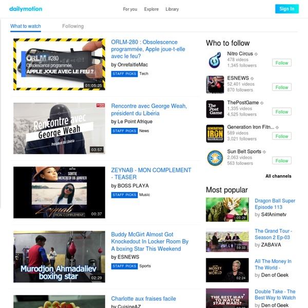 Vidéo, musique et film. Regardez une vidéo maintenant !