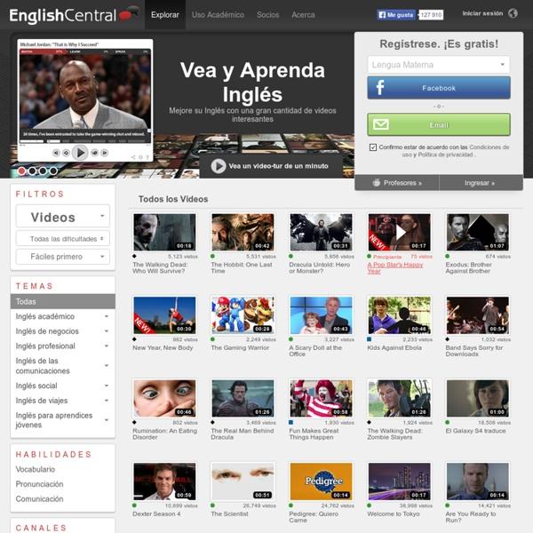 Videos de EnglishCentral - Todos los Videos