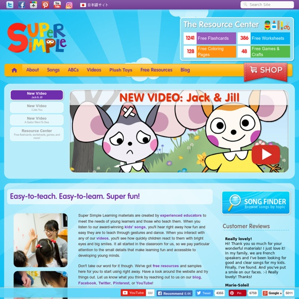 Kids songs, ABCs, videos, & free flashcards from Super Simple Learning