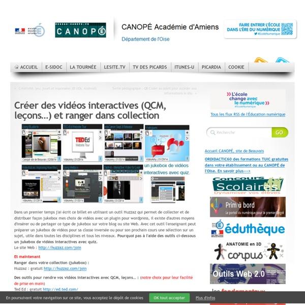Créer des vidéos interactives (QCM, leçons…) et ranger dans collection