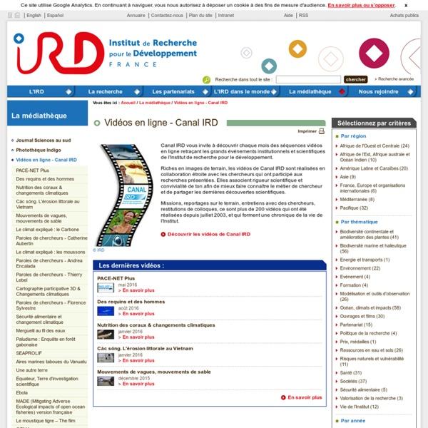 Vidéos en ligne - Canal IRD