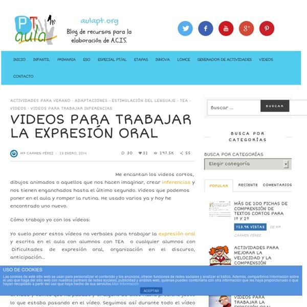 VIDEOS PARA TRABAJAR LA EXPRESIÓN ORAL - Aula PT