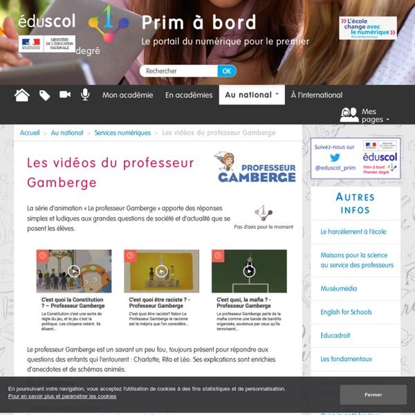 Les vidéos du professeur Gamberge - Prim à bord