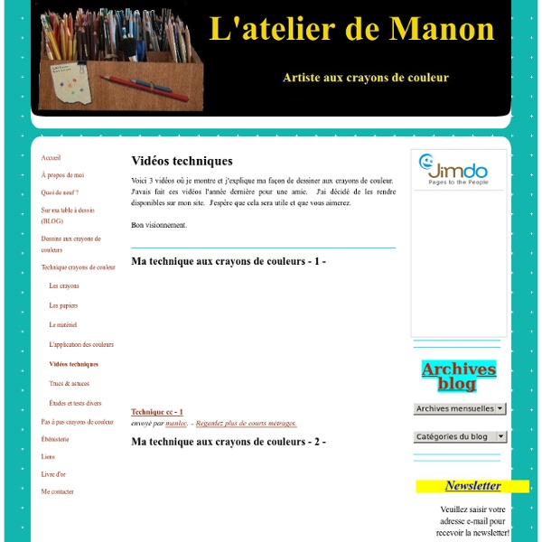 Vidéos techniques - L'atelier de Manon
