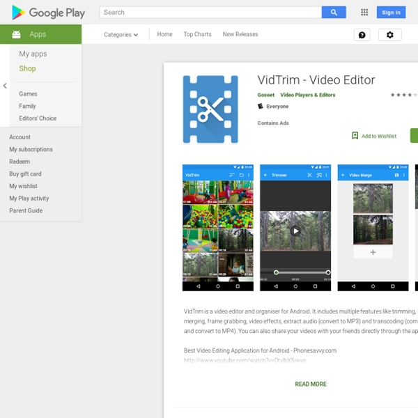 VidTrim - Video Trimmer - Apps on Android Market
