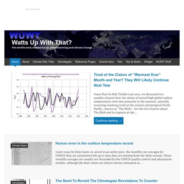 The world's most viewed site on global warming and climate change