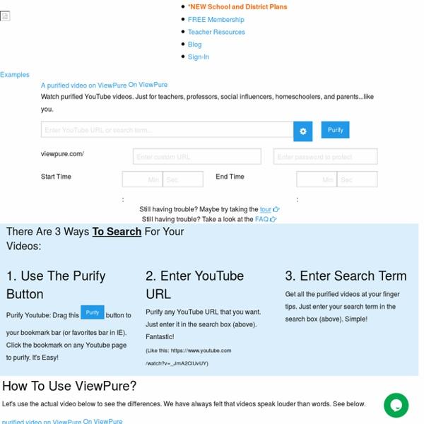 ViewPure / Youtube per tutti