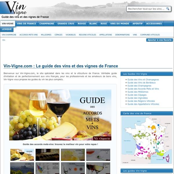 Vin-Vigne : Le guide des vins et des vignes de France