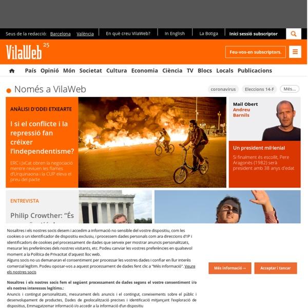 VilaWeb - Diari digital líder en català. Última hora, notícies i opinió