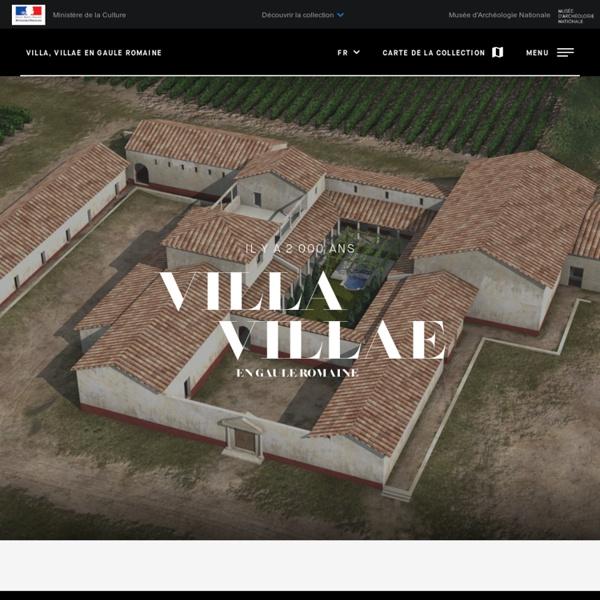 Villa, villae en Gaule romaine. Villa-Loupian en Languedoc