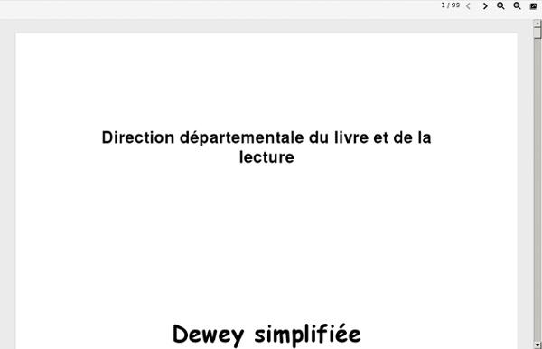 Dewey simplifiée