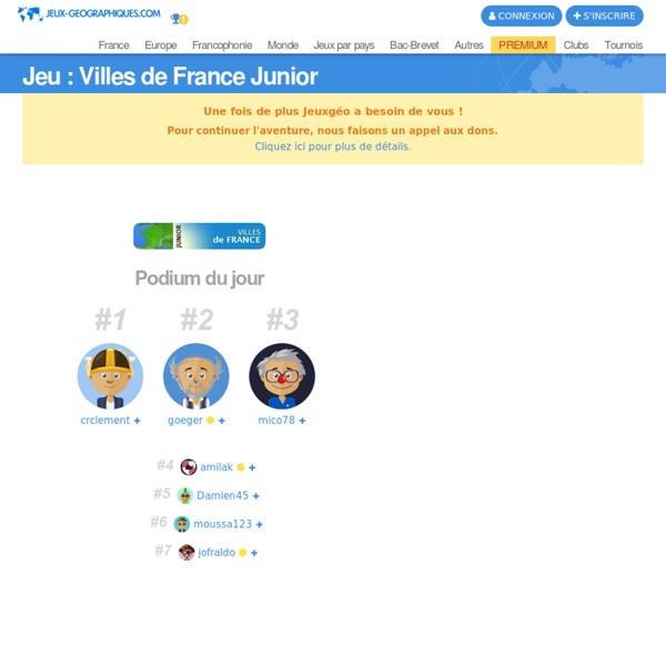 Placer les villes de FRANCE