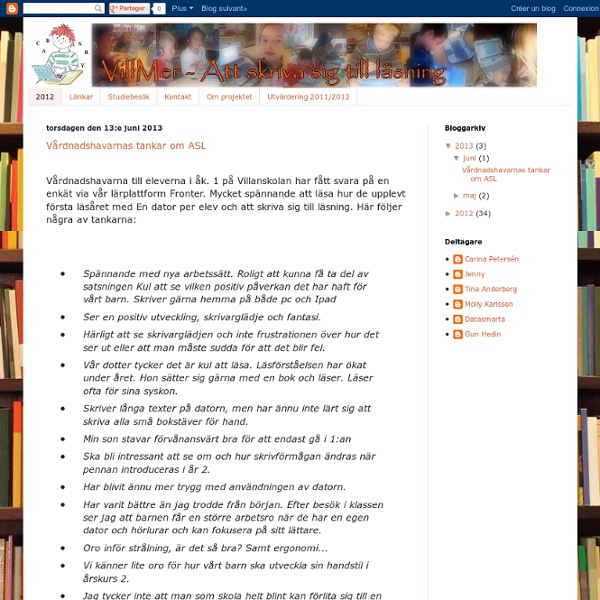 VillMer -Att skriva sig till läsning
