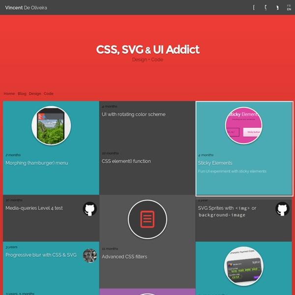 Vincent De Oliveira - CSS & UI