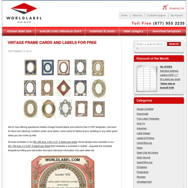 Free Vintage Frame Cards & Labels
