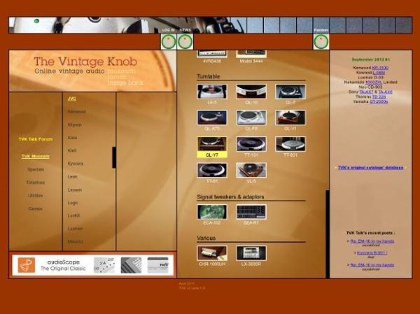 The Vintage Knob - Online vintage audio museum, forum and image bank