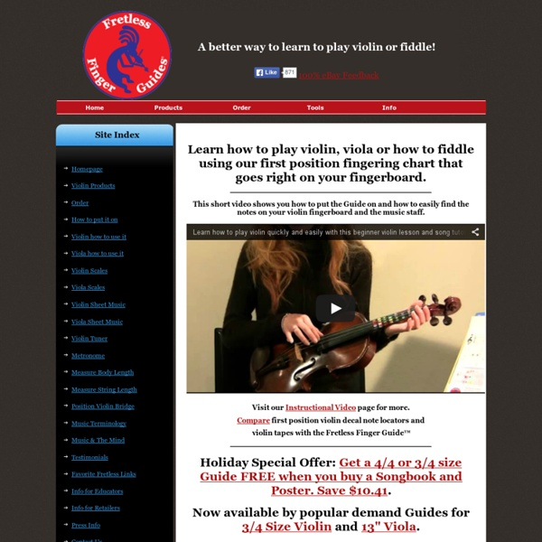 Learn how to play violin with Fretless Finger Guides®