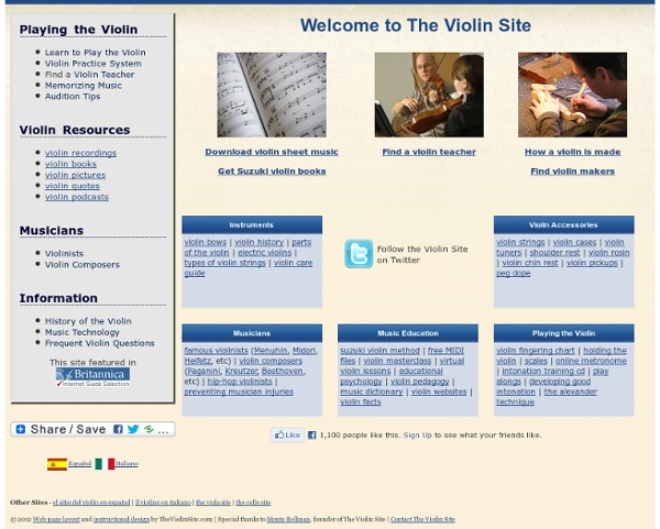 Resources for Violinists