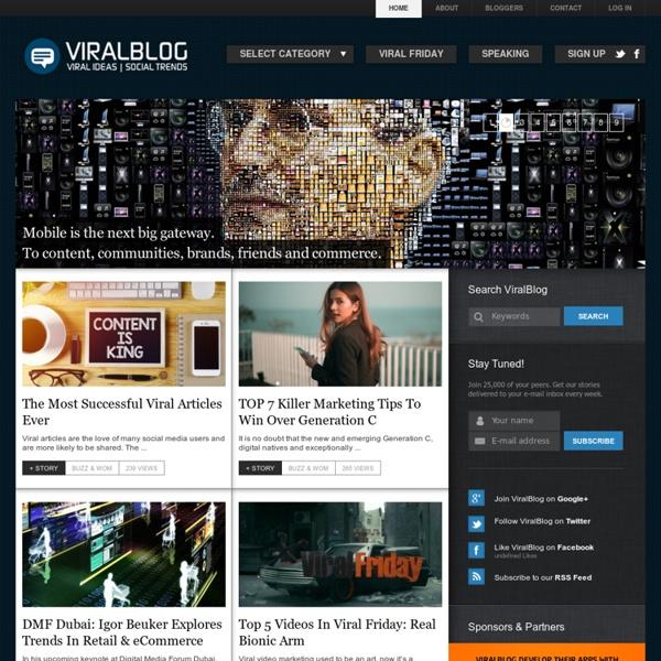 VIRALBLOG.COM – VIRAL IDEAS & SOCIAL TRENDS -