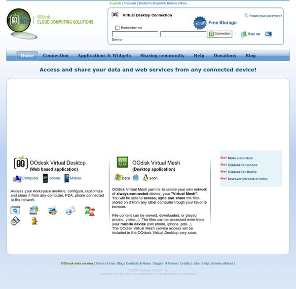 bureau virtuel webos widgets gadgets file sharing free email pearltrees. Black Bedroom Furniture Sets. Home Design Ideas