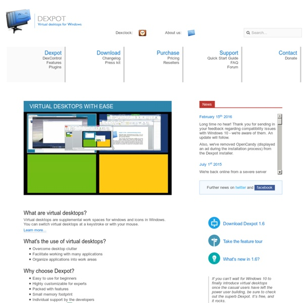 Virtual desktops for Windows