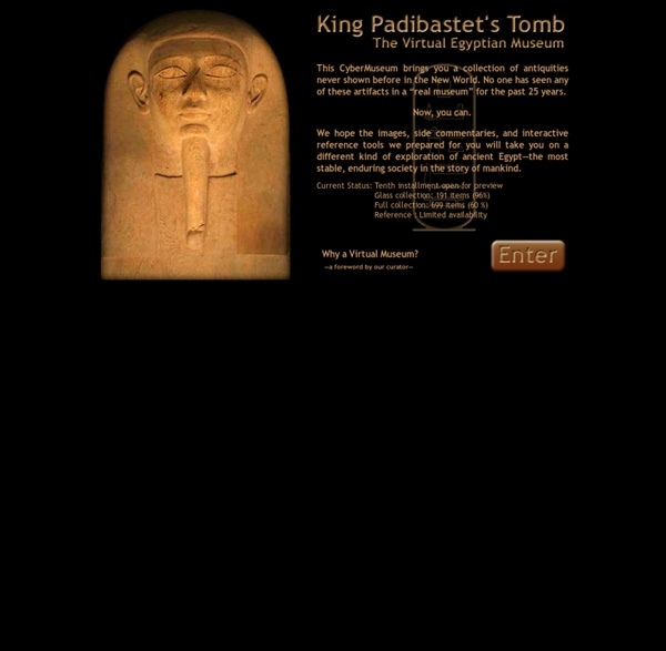 Home of The Virtual Egyptian Museum - King Padibastet's Tomb