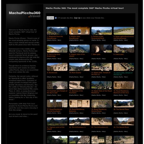 Machu Picchu Peru - 360º Virtual Tour - Panorammer.com