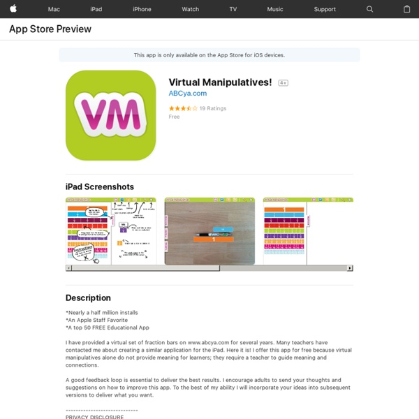 Virtual Manipulatives!
