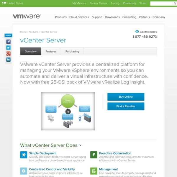 VMware vCenter Server Virtualization & Server Management Software