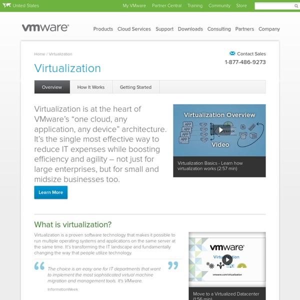 Virtualization Technology & Virtual Machine Software