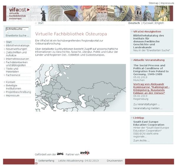 ViFaOst: Virtuelle Fachbibliothek Osteuropa