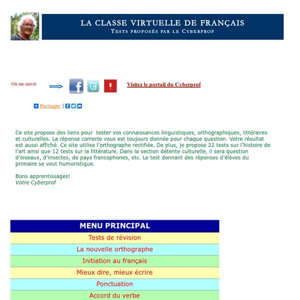 La classe virtuelle de français du Cyberprof