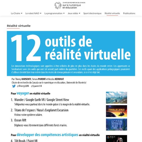 Réalité virtuelle – Chaire de recherche du Canada sur les TIC en éducation