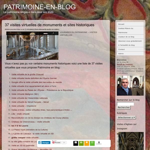37 visites virtuelles de monuments et sites historiques