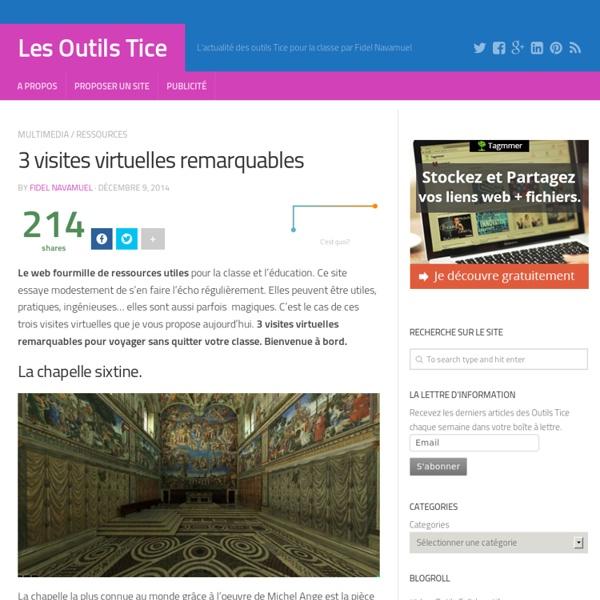 3 visites virtuelles remarquables