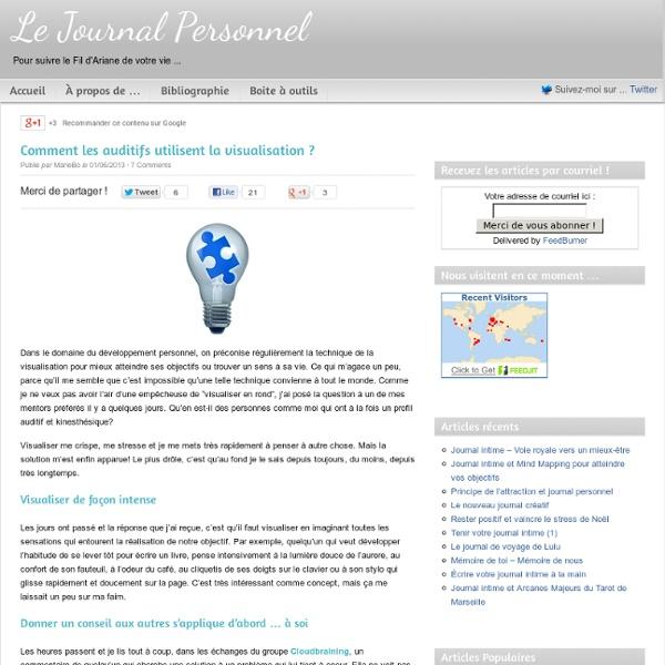 Utiliser la visalisation avec votre journal personnel